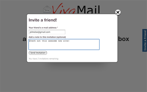 Prefinery Invite-a-Friend Widget